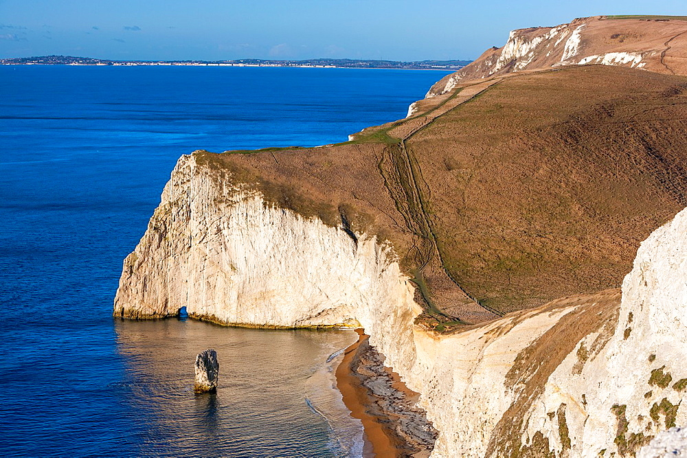 Bat's Head and Butter Rock, Jurassic Coast, Lulworth, Dorset, England, Europe