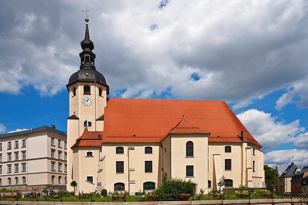 Protestant Lutheran church of St Peter and St Paul, Reichenbach, Vogtland, Saxony, Germany, Europe