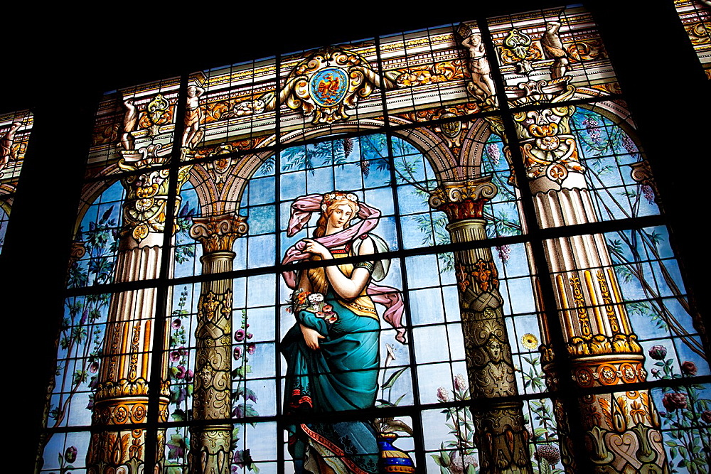 Stained Glass Gallery at Chapultepec Castle in Mexico City DF, Bathroom