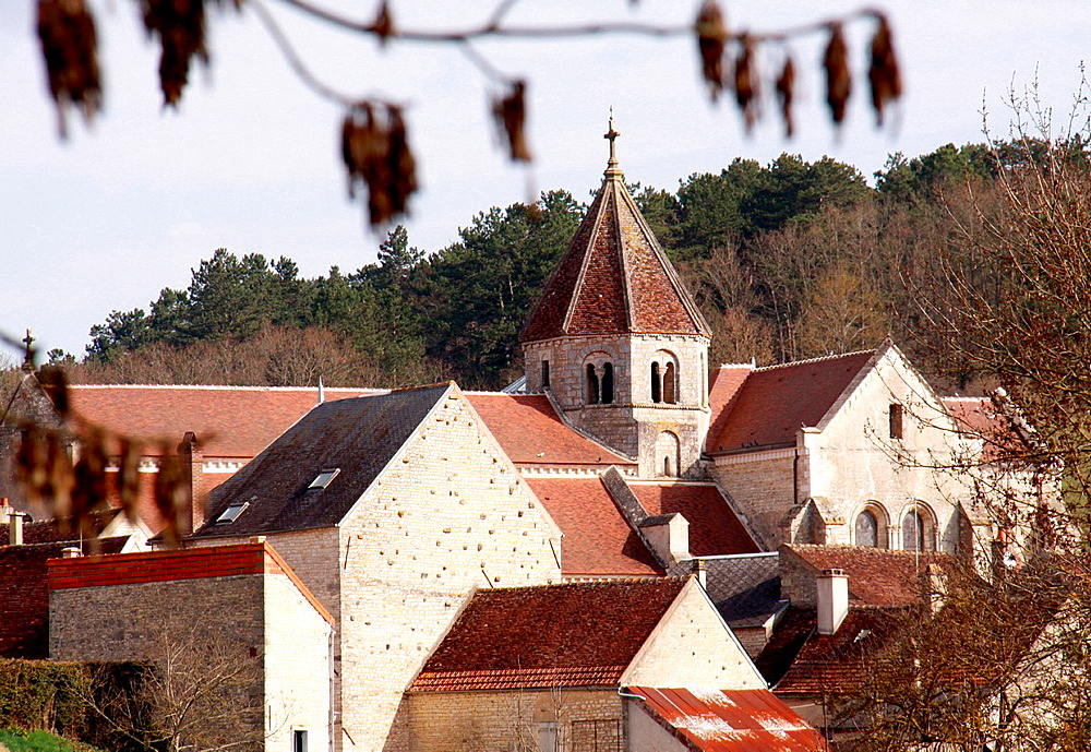 Tonw of France, Burgundy, Yonne, Sacy and its medieval atmosphere with a fortified church, village of birth of the famous french writer Retif de la Bretonne 1734-1806