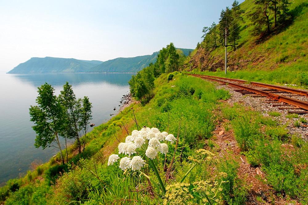 Circum-Baikal Railway, Lake Baikal, Irkutsk region, Siberia, Russian Federatio