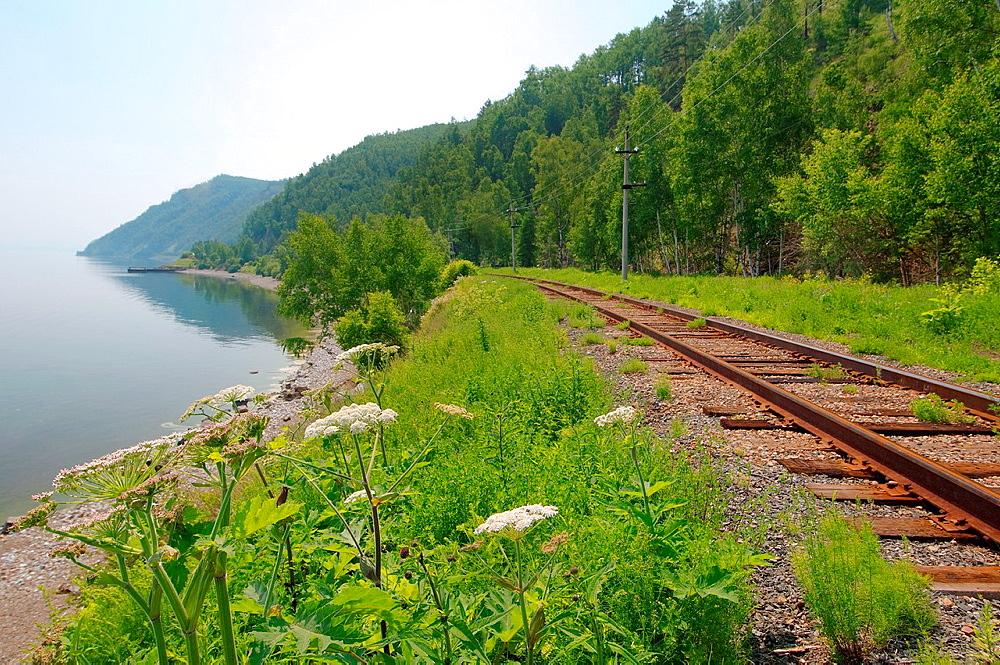 Circum-Baikal Railway, Lake Baikal, Irkutsk region, Siberia, Russian Federation