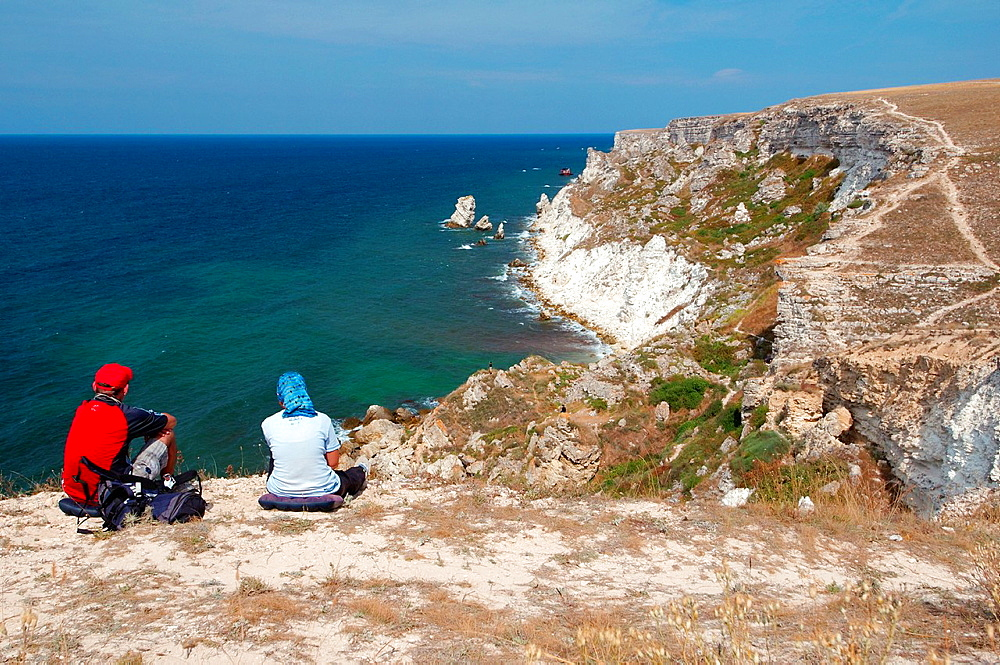 Coastline, Cape Tarhankut, Tarhan Qut, Crimea, Ukraine, Eastern Europe