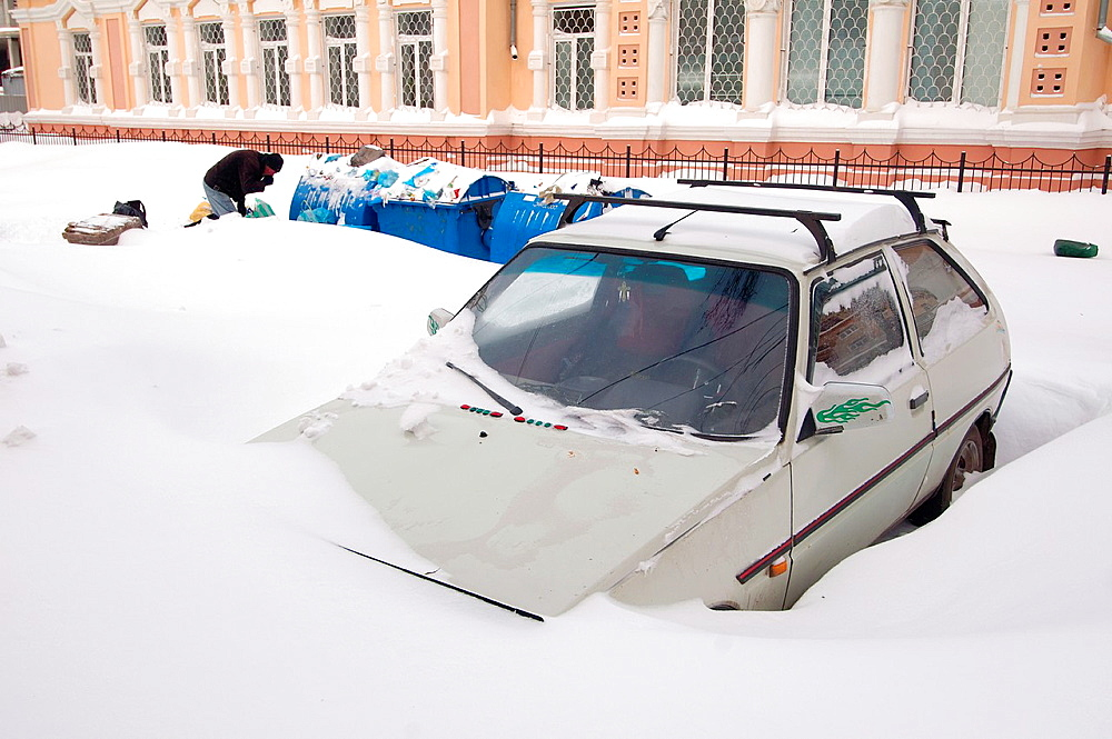 The car closed by snow, Odessa, Ukraine