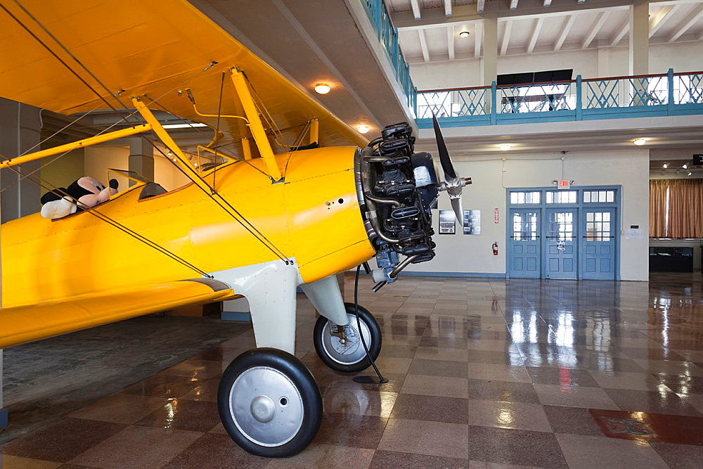 USA, Kansas, Wichita, Kansas Aviation Museum, Stearman biplane, manufactured in Wichita in the 1930's-era