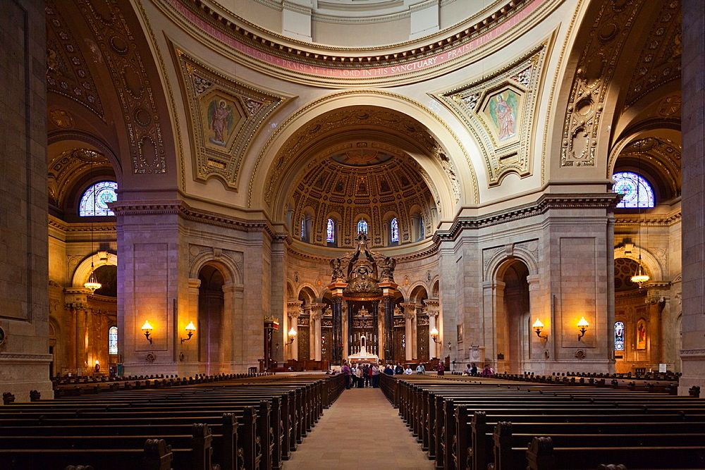 USA, Minnesota, Minneapolis, St  Paul, Cathedral of St  Paul, interior