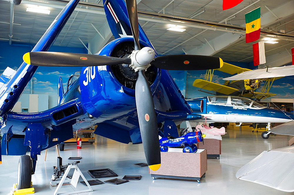 USA, North Dakota, Fargo, Fargo Air Museum, World War 2-era, F4U Corsair aircraft