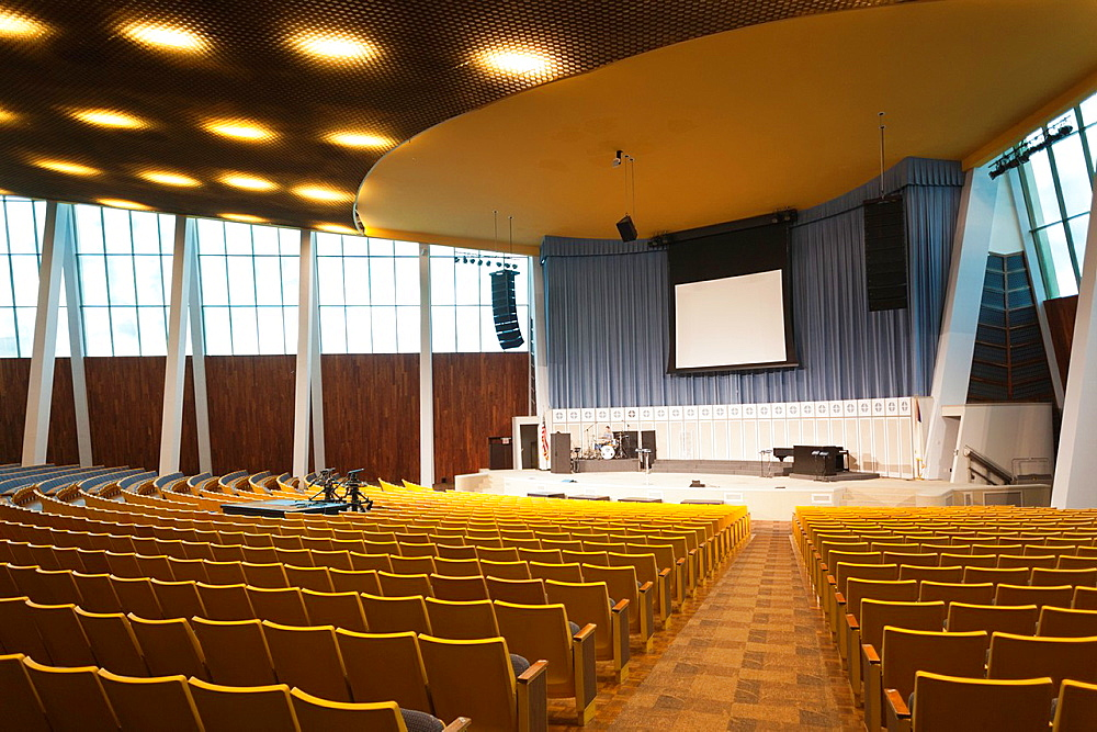 USA, Oklahoma, Tulsa, Oral Roberts University, Christ's Chapel, television church