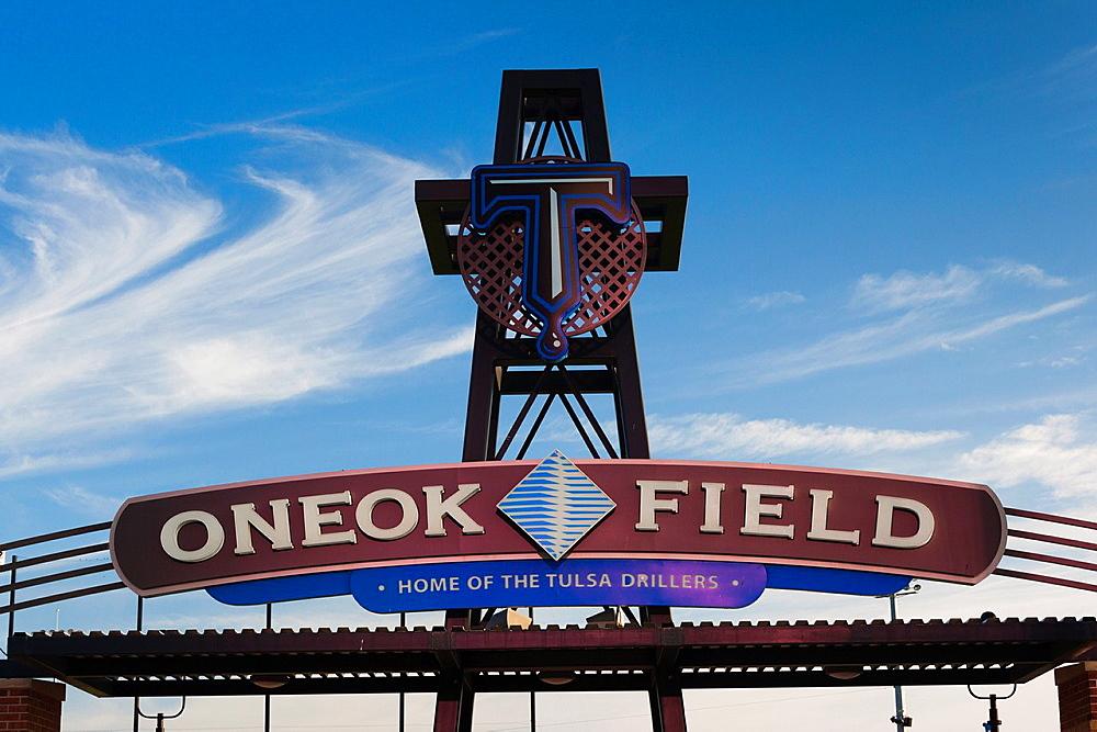 USA, Oklahoma, Tulsa, ONEOK Field, sports stadium