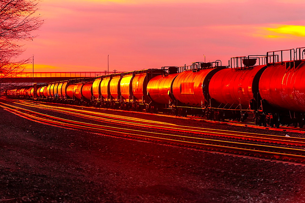 Freight trains, Gallup, New Mexico USA