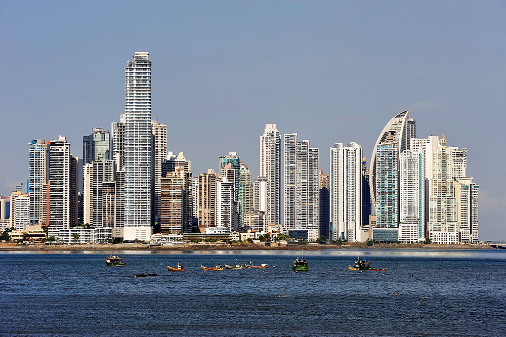skyline of the new city, Panama City, Republic of Panama, Central America