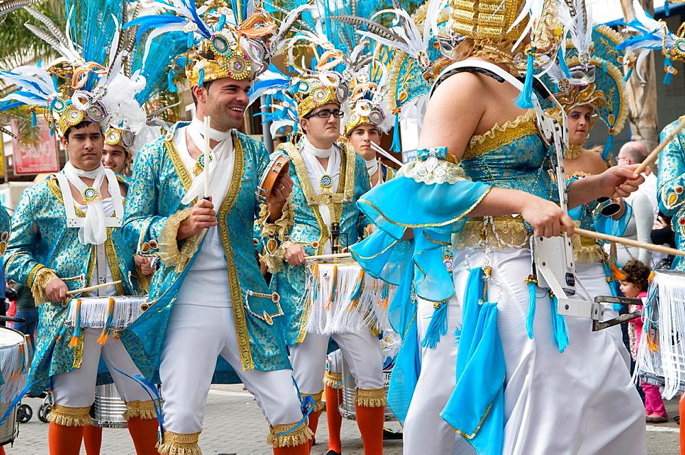 Spain, Canary Islands, Lanzarote island, Arrecife, Carnival.