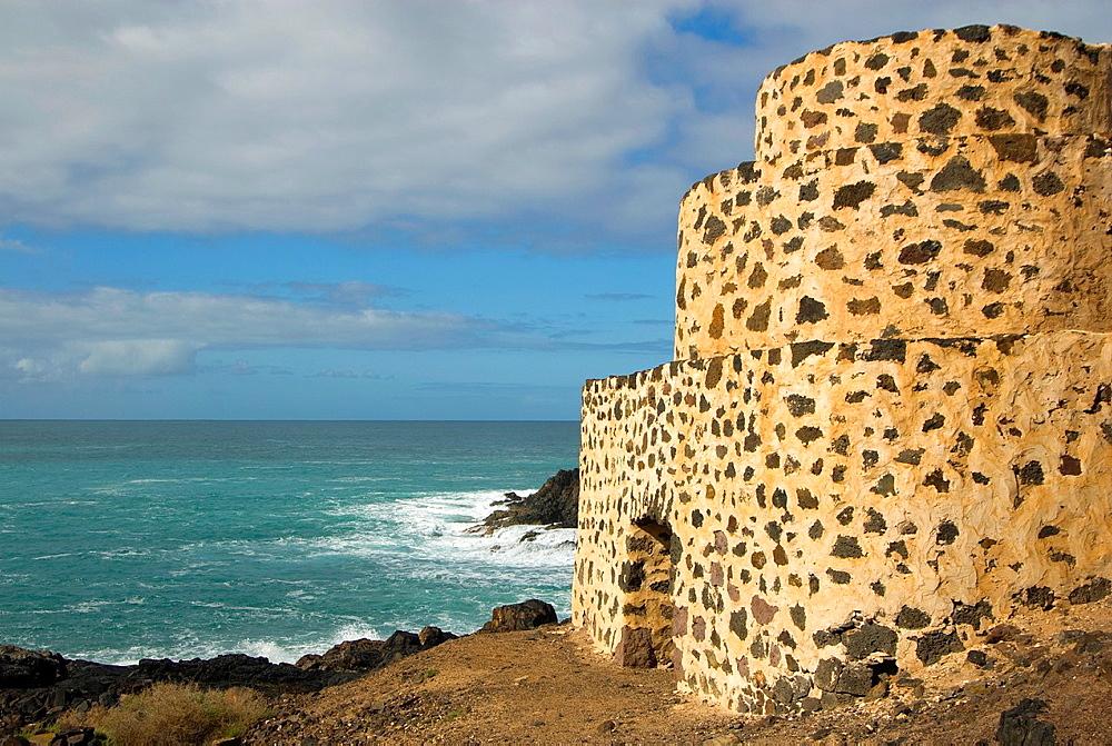 Spain, Canary, Fuerteventura, El Cotillo, castillo El Toston.