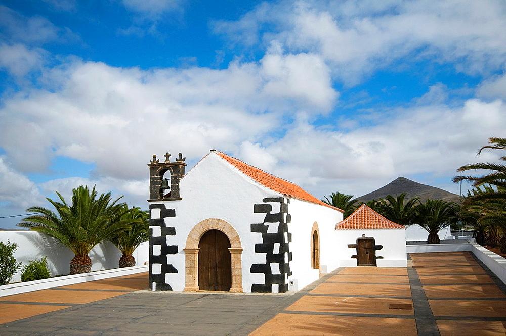 Spain, Canary, Fuerteventura, Lajares, Ermita de San Antonio de Padua.