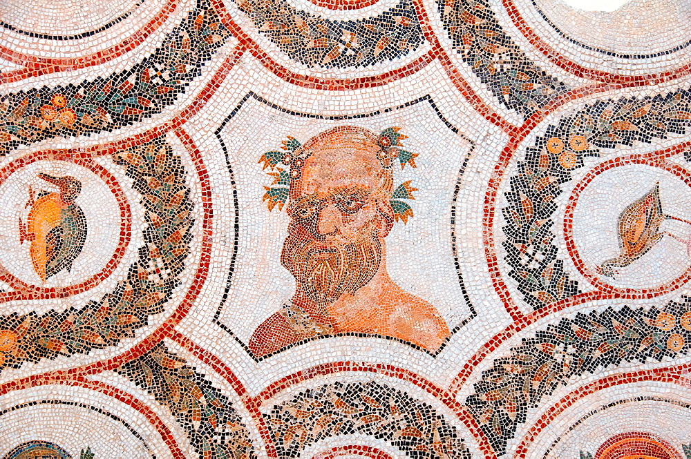 God of Wine Dionysus Bacchus, Ancient Carthage, antique city, Tunisia, Africa