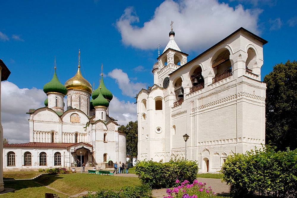 St, Euthymius monastery founded in the mid 14th century, Suzdal, Golden Ring, Russia