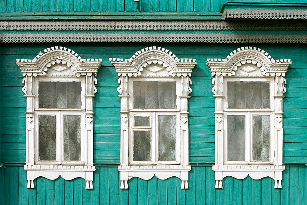 Typical houses, Kidekcha near Suzdal, Golden Ring, Russia