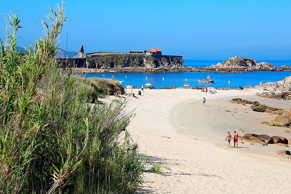 Areas Gordas beach, A Lanzada, Sanxenxo, Pontevedra province, Galicia, Spain.