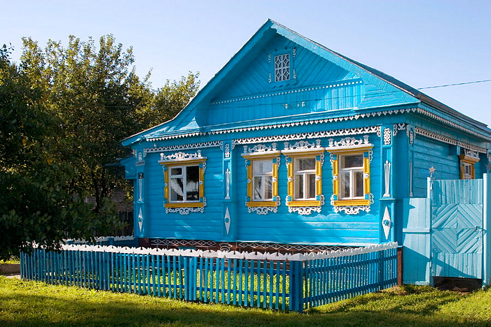 Typical houses, Suzdal, Golden Ring, Russia