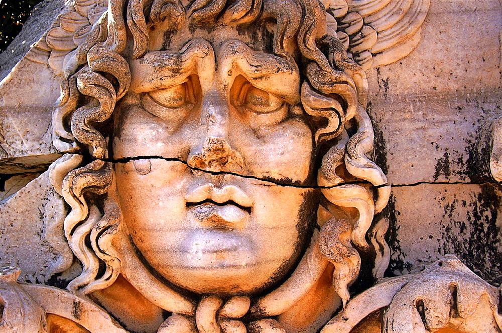 Turkey-Didim- Medusa head at Didymes.