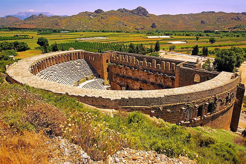 Roman theatre (2nd century AD), Aspendos, Turkey