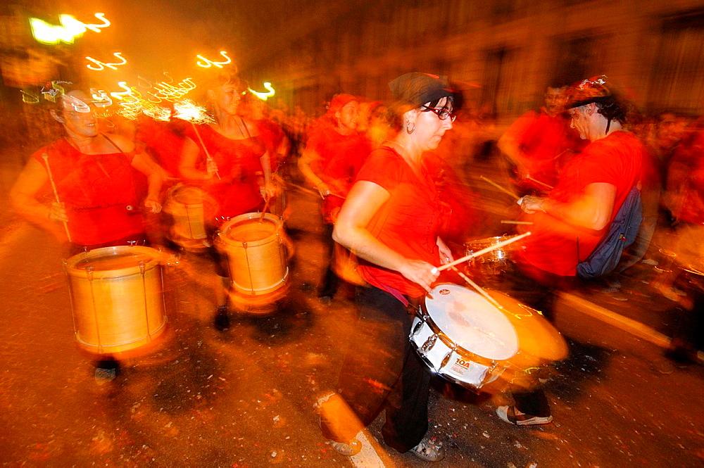 La Merce feast, Barcelona, Catalonia, Spain.