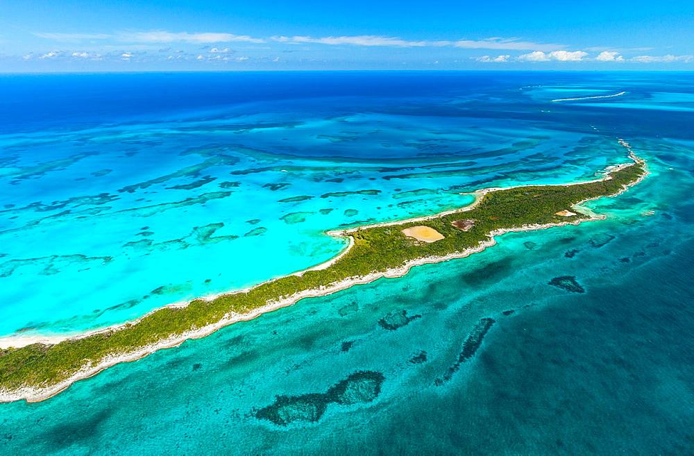 Aerial view, Nassau, Bahamas, America.