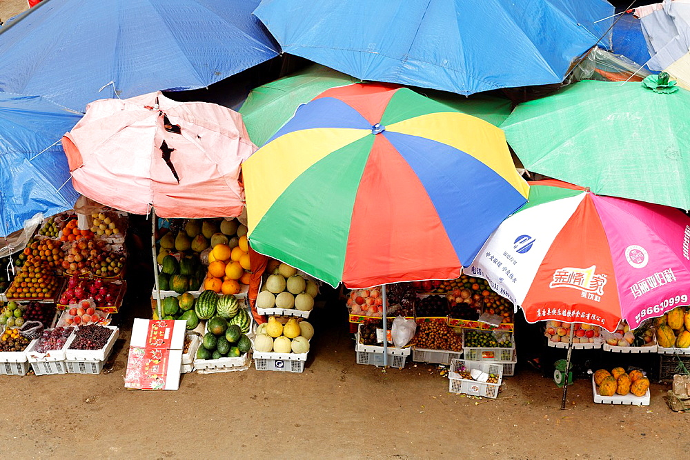 The market Lashio Shan state Burma Republic of the Union of Myanmar.
