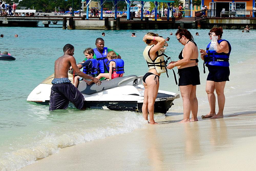 Jet Skiing Philipsburg St Martin Maarten Caribbean Island Netherland Antilles