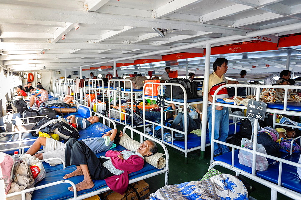 People travelling by ferry, Philippines, Asia