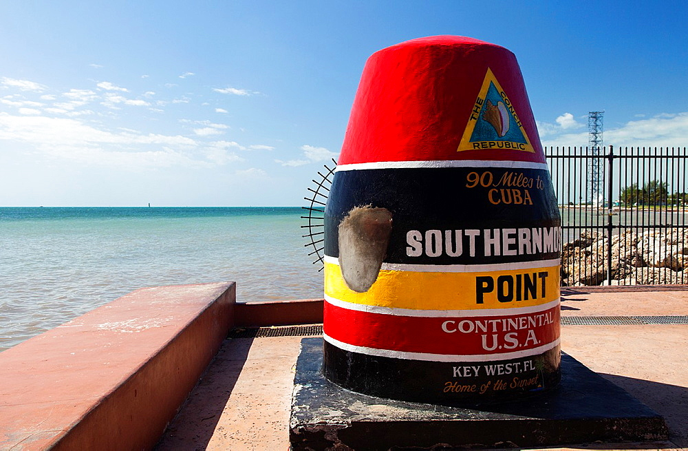 Southernmost point buoy, Key West, Florida, USA - 817-433202
