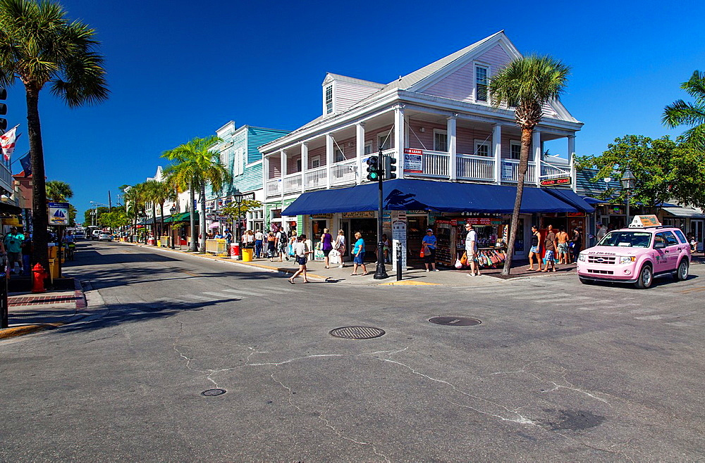 Streets of Key West, Florida, USA