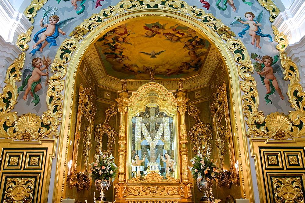 Chapel of the Holy Cross of Cabo street, La Palma del Condado, Huelva-province, Spain