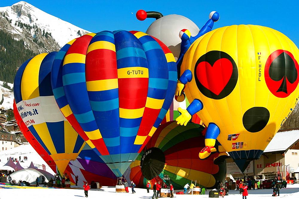 International Balloons Show January 2013, Chateau d'Oex, Switzerland