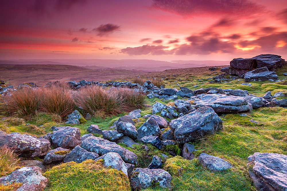 Rippon Tor in the Dartmoor National Park near Widecombe in the Moor, Devon, England, UK, Europe