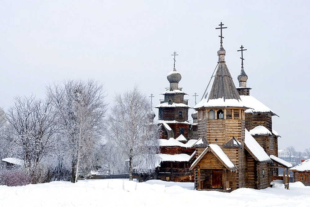 Museum of Wooden Architecture, wooden church, Suzdal, Golden Ring, Russia