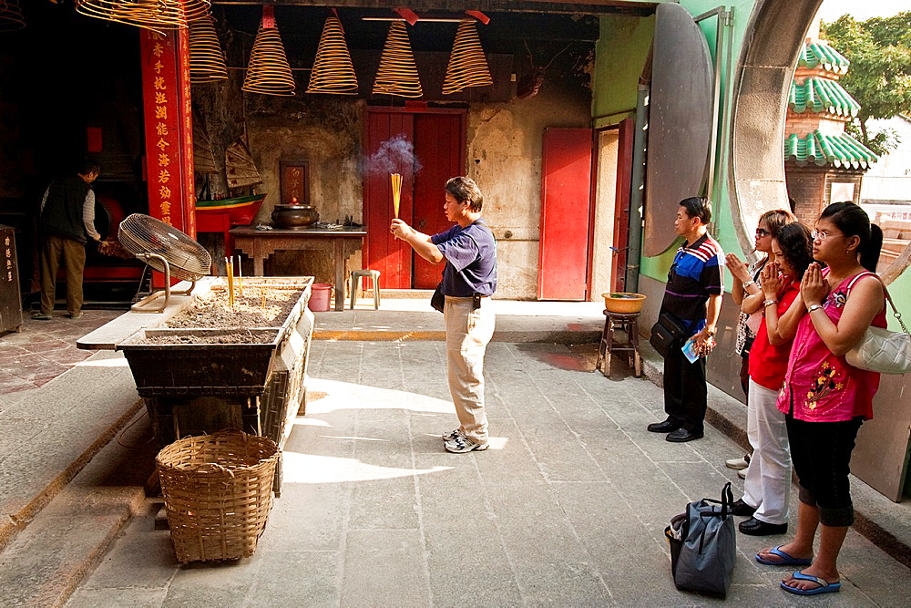 People Praying, A Ma Buddhist Temple, Macau, China