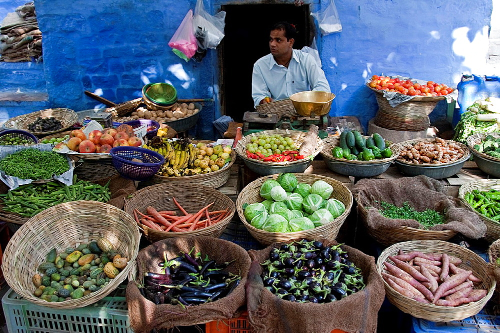 Fruit and Vegetable Market, Jodhpur The Blue City Rajasthan, India