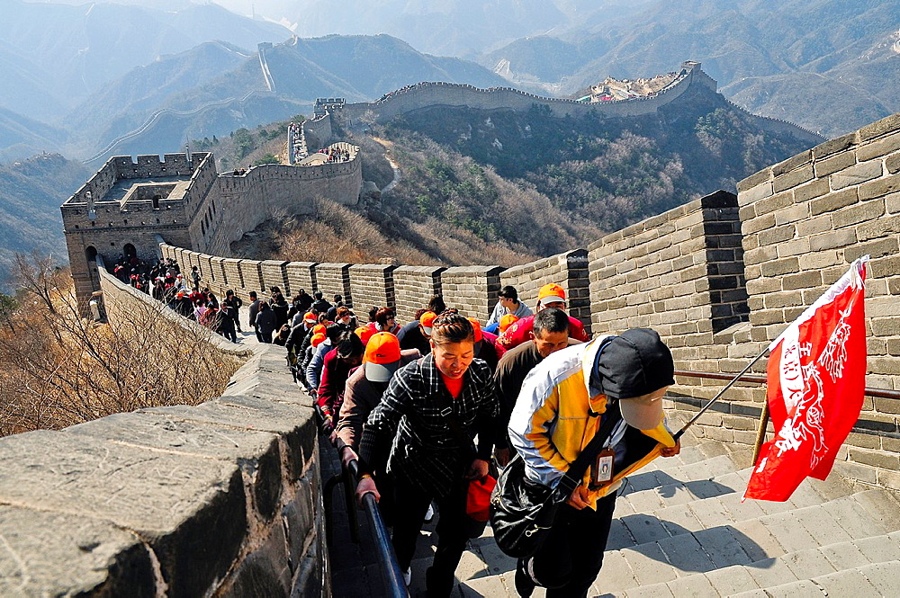 Badaling section of The Great Wall, China, Asia. - 817-434509