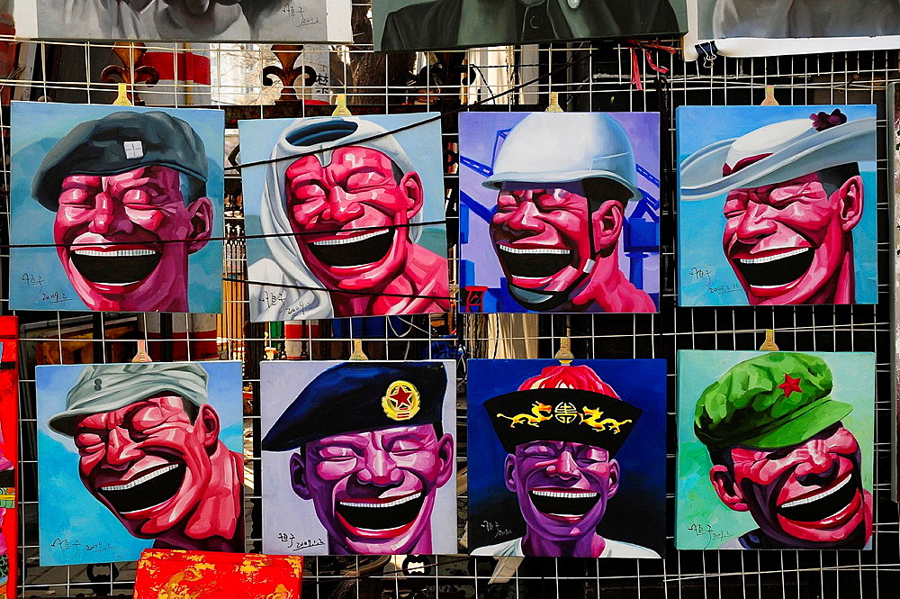 Paintings in the street, Beijing, China, Asia - 817-434555