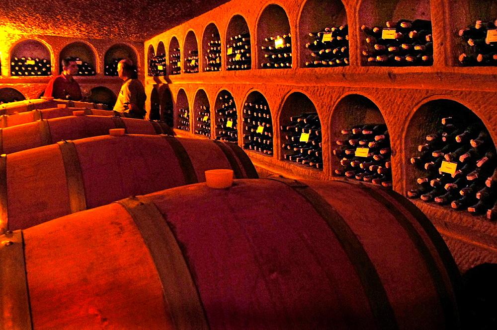 Cellars of the famed Turasan winery at urgup, Cappadocia, Turkey