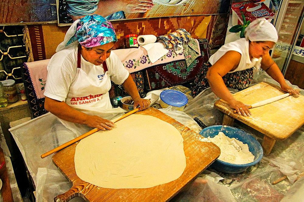 Preparing 'boreks' at Antalya, Turkey