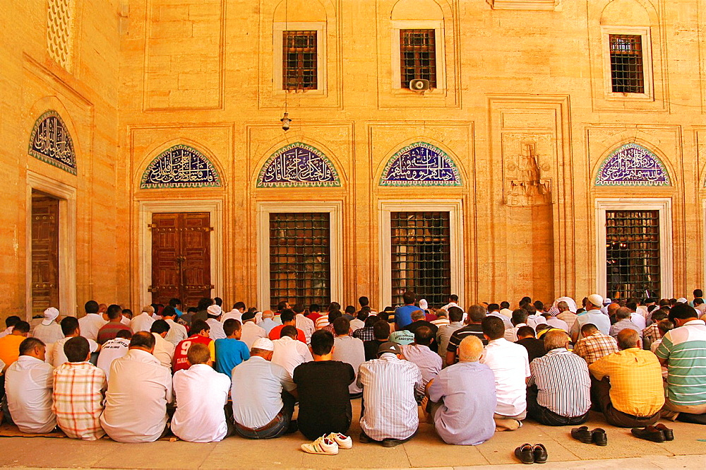 Friday pray at the Selimiye Camii mosque, Edirne, Thrace, Turkey