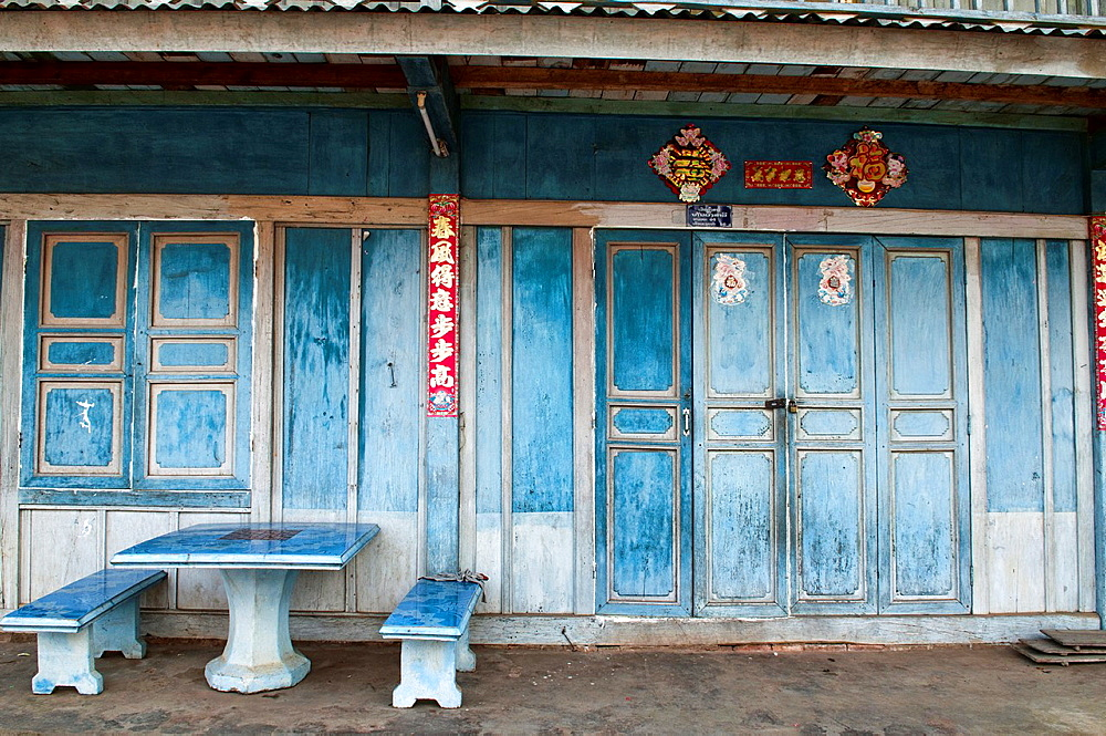 traditional architecture in Phongsaly, Laos