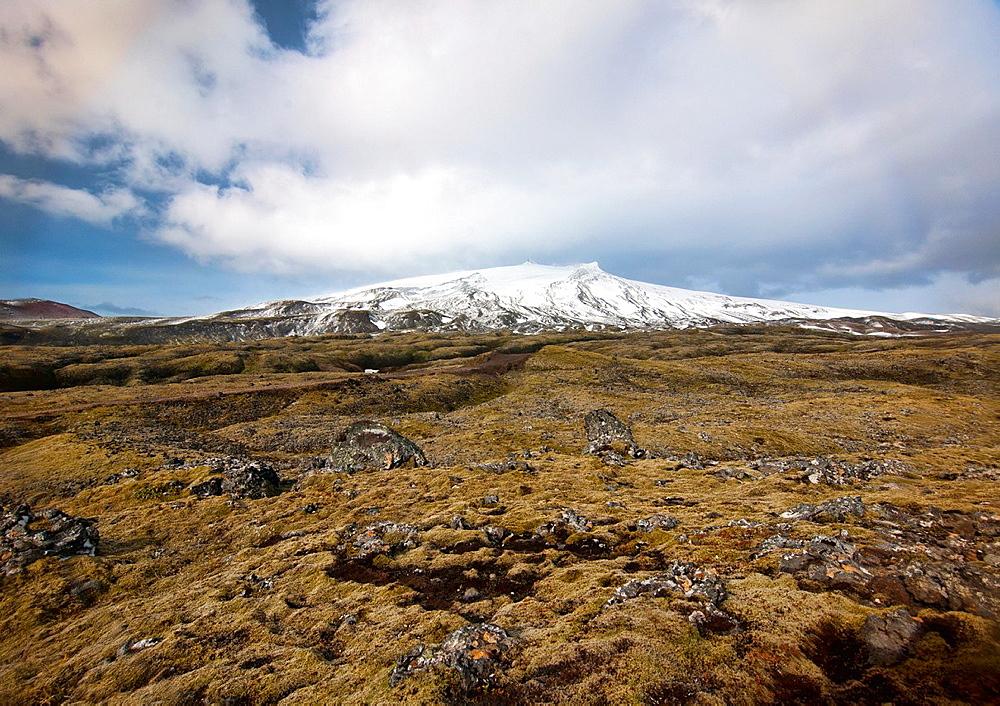Snaefellsjokul glacier and volcano, Snaefellsnes, west Iceland
