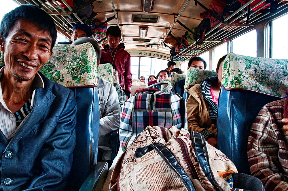 the bus to Phongsaly in northern Laos