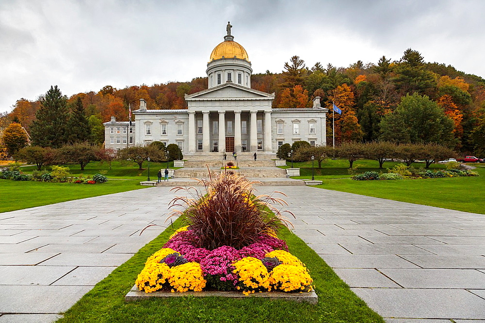 Vermont State House in Montpelier, Vermont, USA