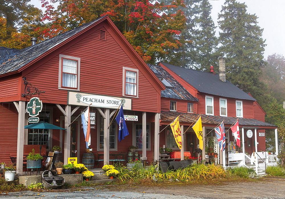 General store in Peacham, Vermont, USA