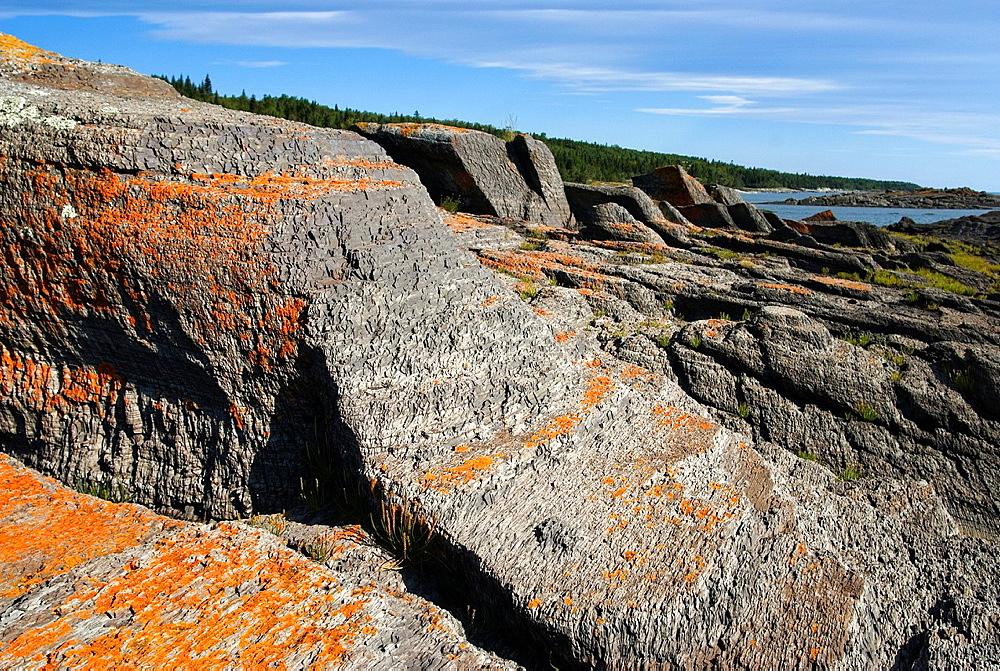 Warden cove, Ile aux Lievres, Saint-Laurent river, Quebec province, Canada, North America