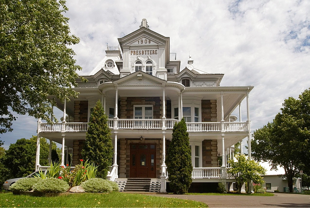 rectory of St-Patrice, Riviere-du-Loup, Bas-Saint-Laurent region, Quebec province, Canada, North America